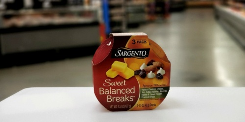 New Sargento Balanced Breaks Coupon = 3-Pack Only $1.78 After Cash Back at Walmart