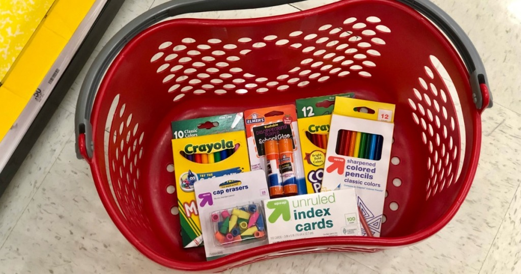 school supplies in target basket