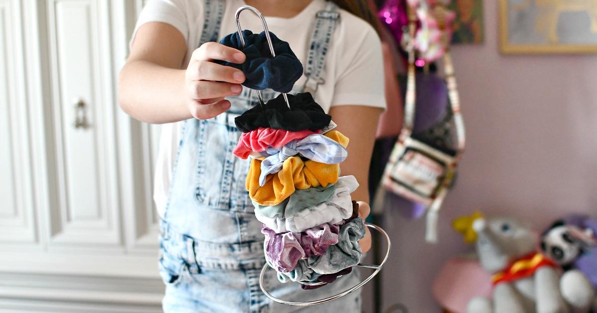 Dollar Tree Paper Towel Holder Best Scrunchie Organizer
