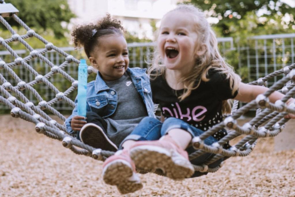 2 girls on hammock