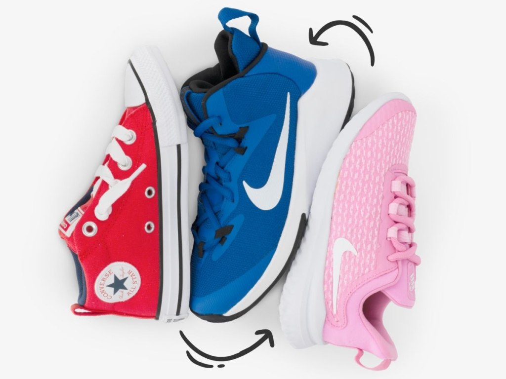 Nike and Converse shoes