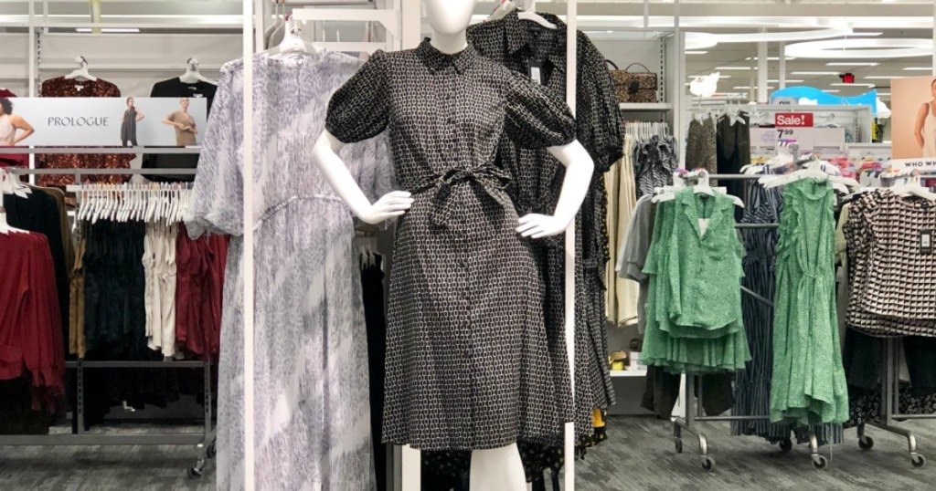 mannequin wearing a dress in Target