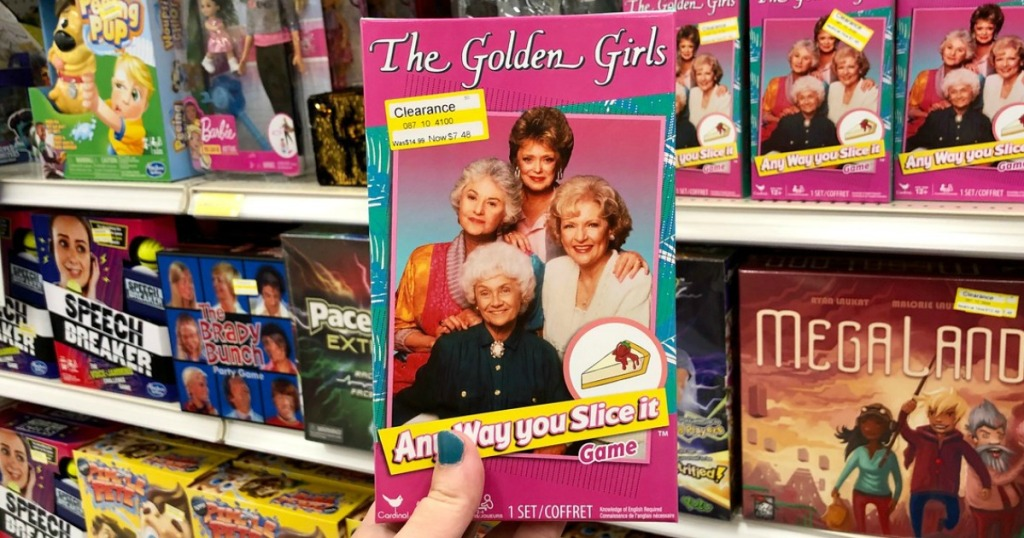 hand holding golden girls board game at target