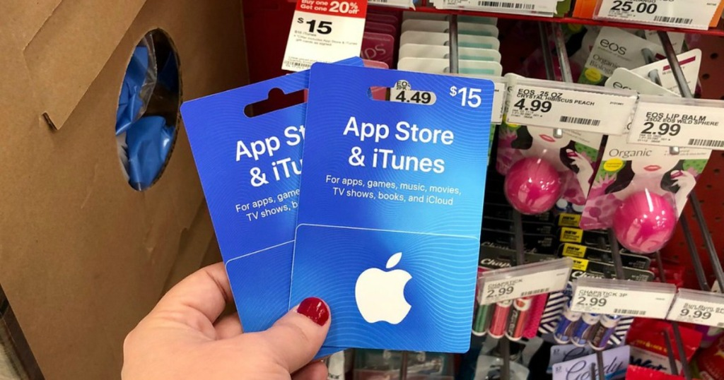 app store and itunes gift cards at target