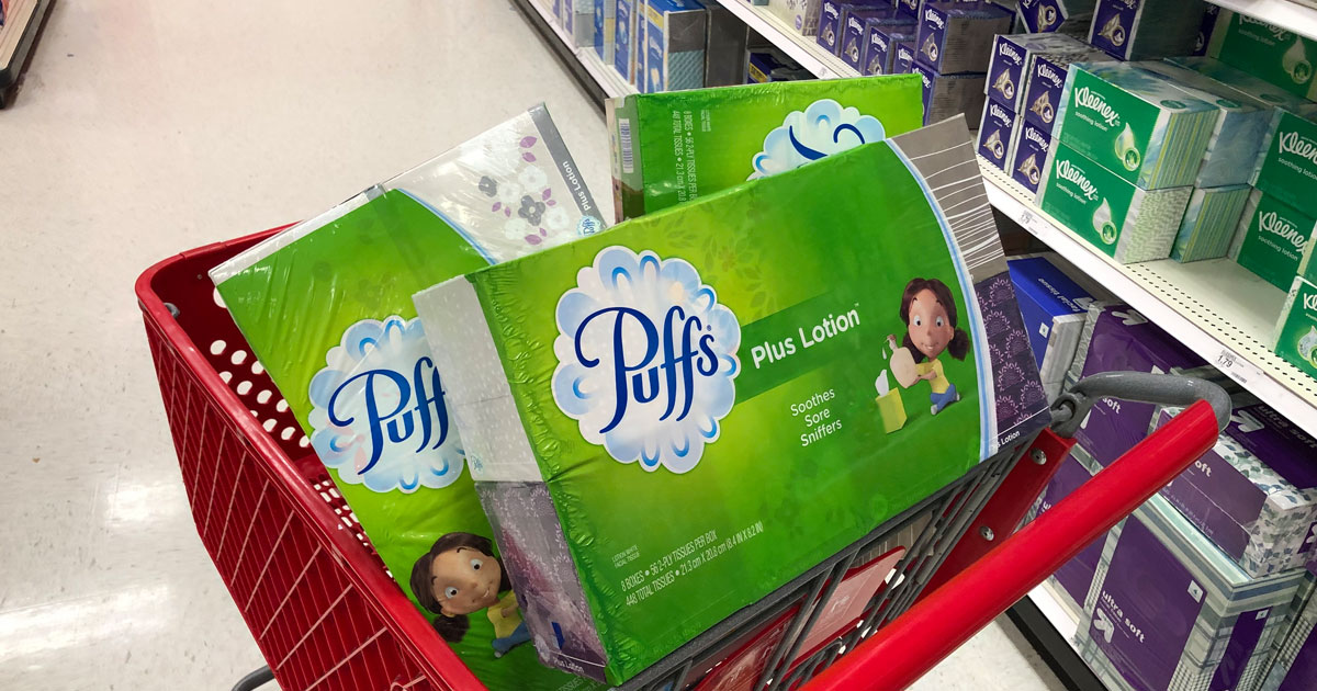 puffs tissue multipacks in Target cart