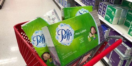 Puffs Plus Tissues 6-Pack Only $5.56 Each After Target Gift Card (Just 93¢ Per Box)
