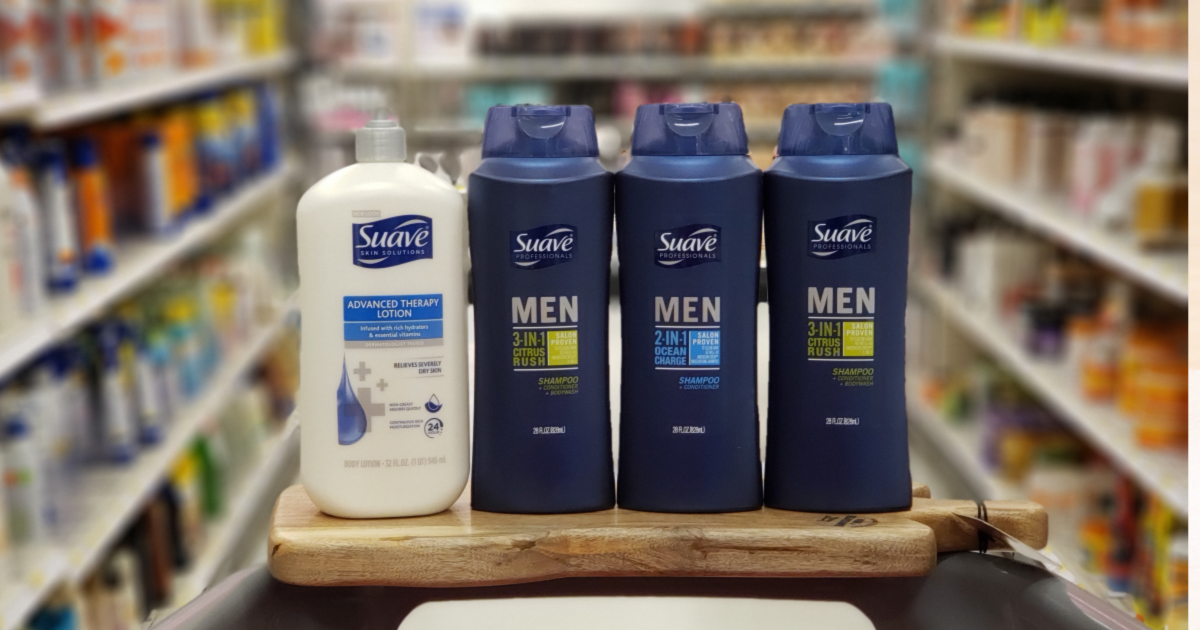 suave lotion and men's body wash