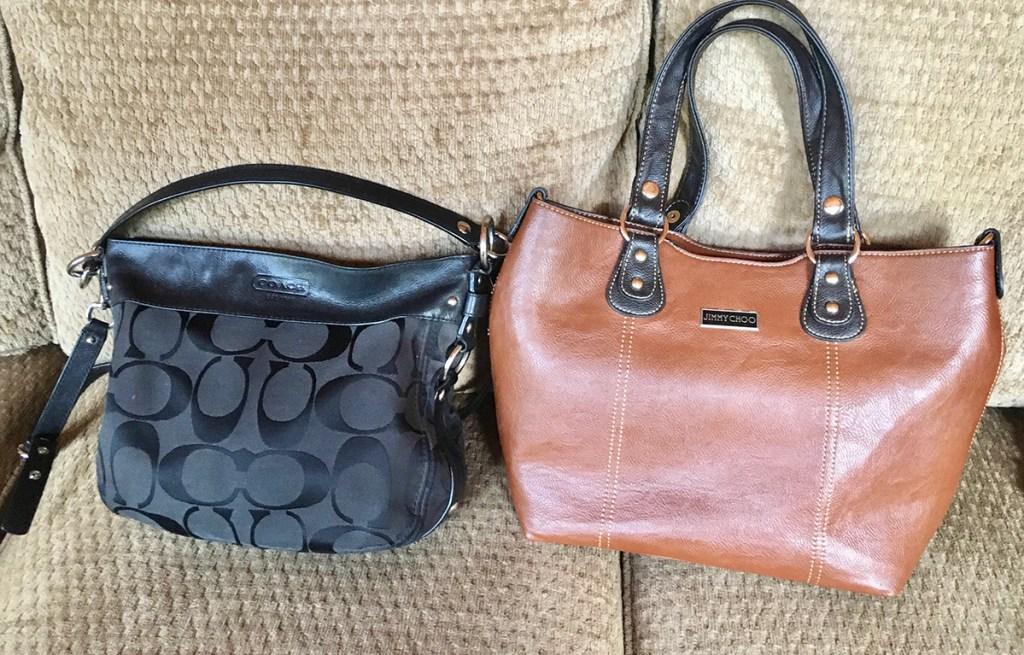 coach and jimmy choo designer bags