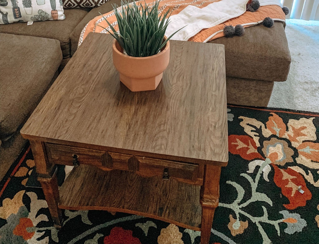 coffee table from the thrift store