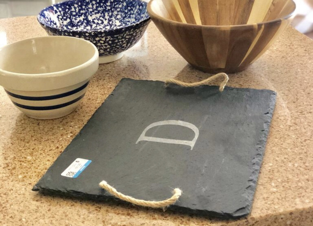 slate tray from the thrift store