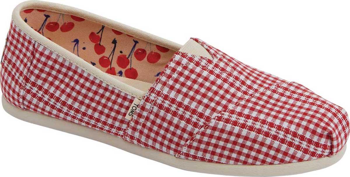Toms Seasonal Alpargata Shoes with red checks