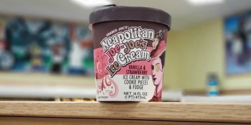 Trader Joe's Neapolitan Joe-Joe's Ice Cream has Cookie Pieces AND Fudge