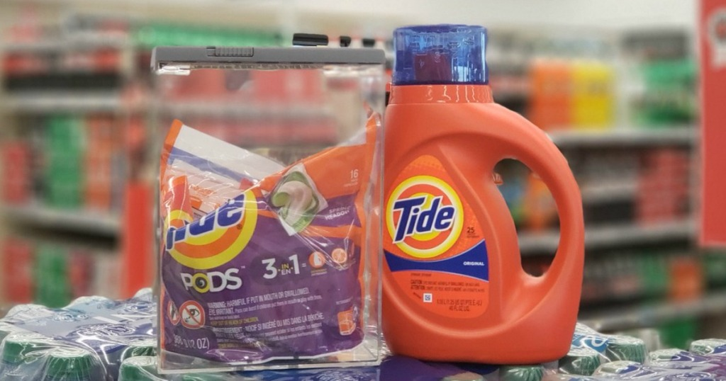 tide pods and detergent at walgreens