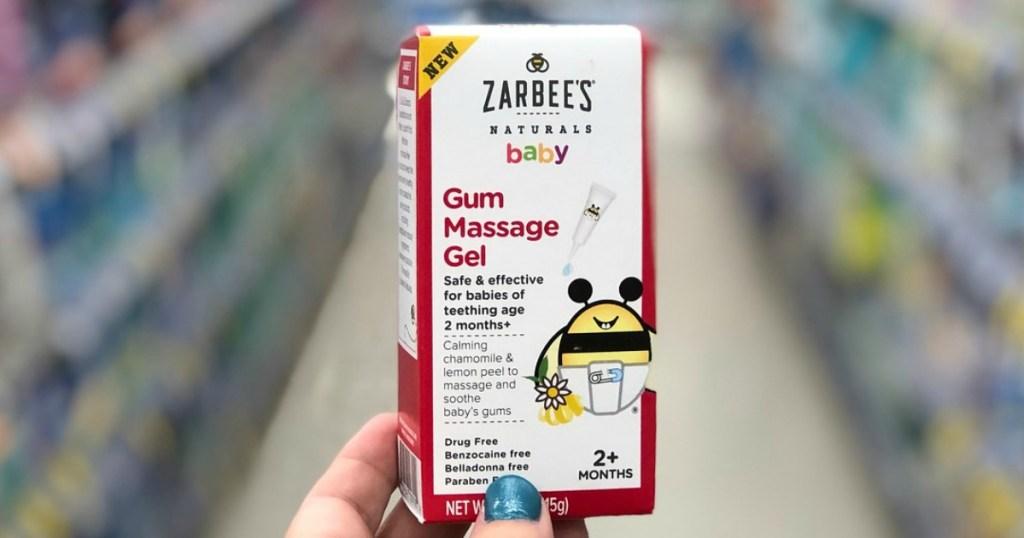 zarbee's gum massage gel at walgreens