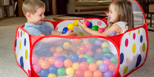 Foldable Ball Pit w/ Basketball Hoop Just $11.99 at Walmart (Regularly $25)