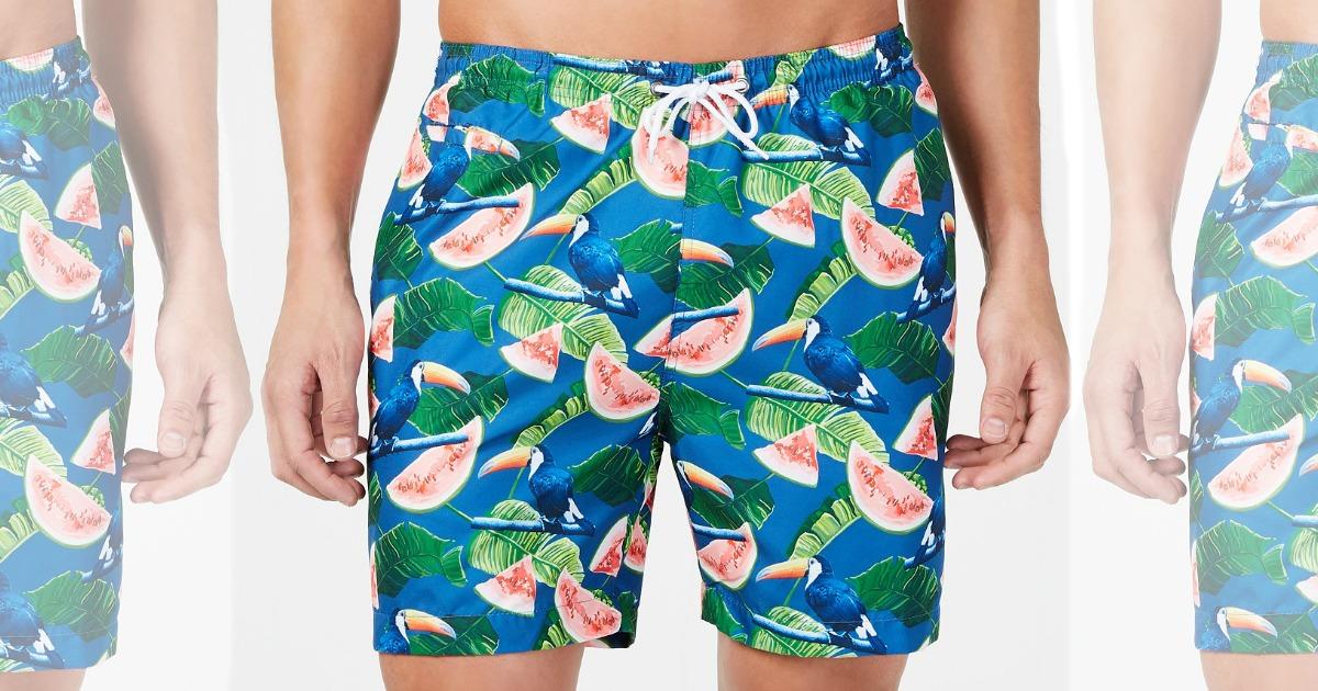 watermelon swim trunks