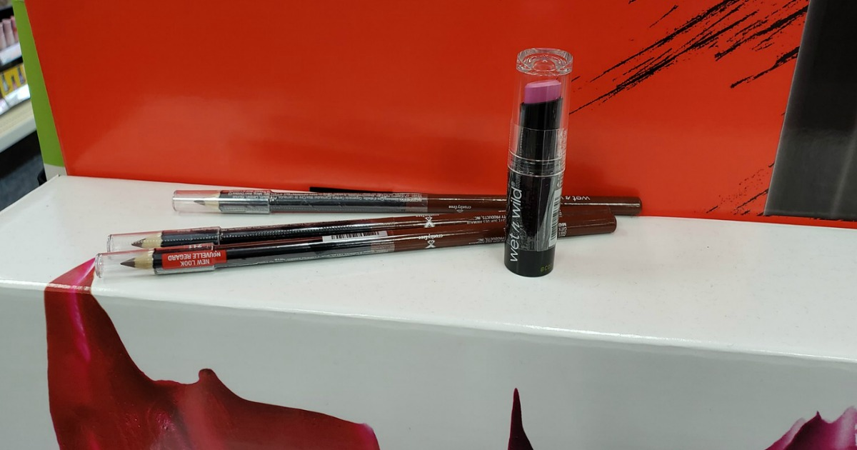 lipstick and eye pencils in-store