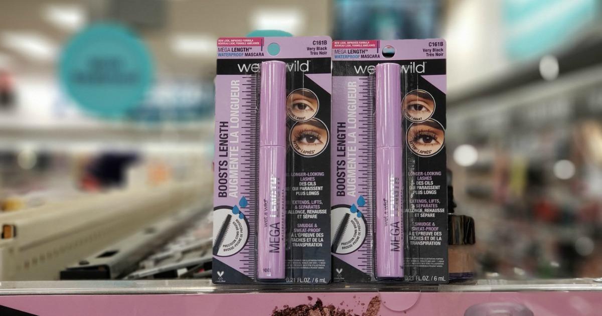 wet n wild mascara in package on store display