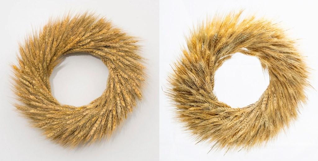 stock photos of wheat wreaths