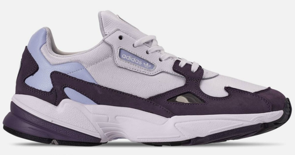 purple and white shoe