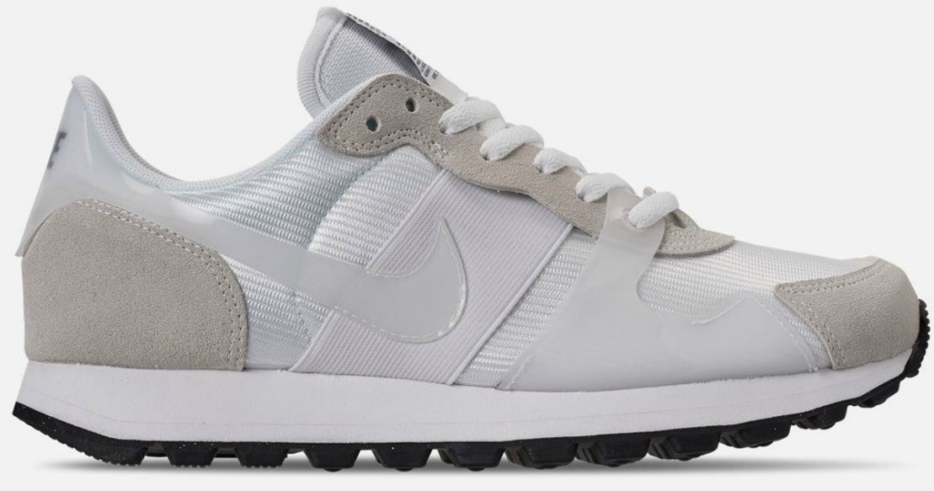 white and grey shoe