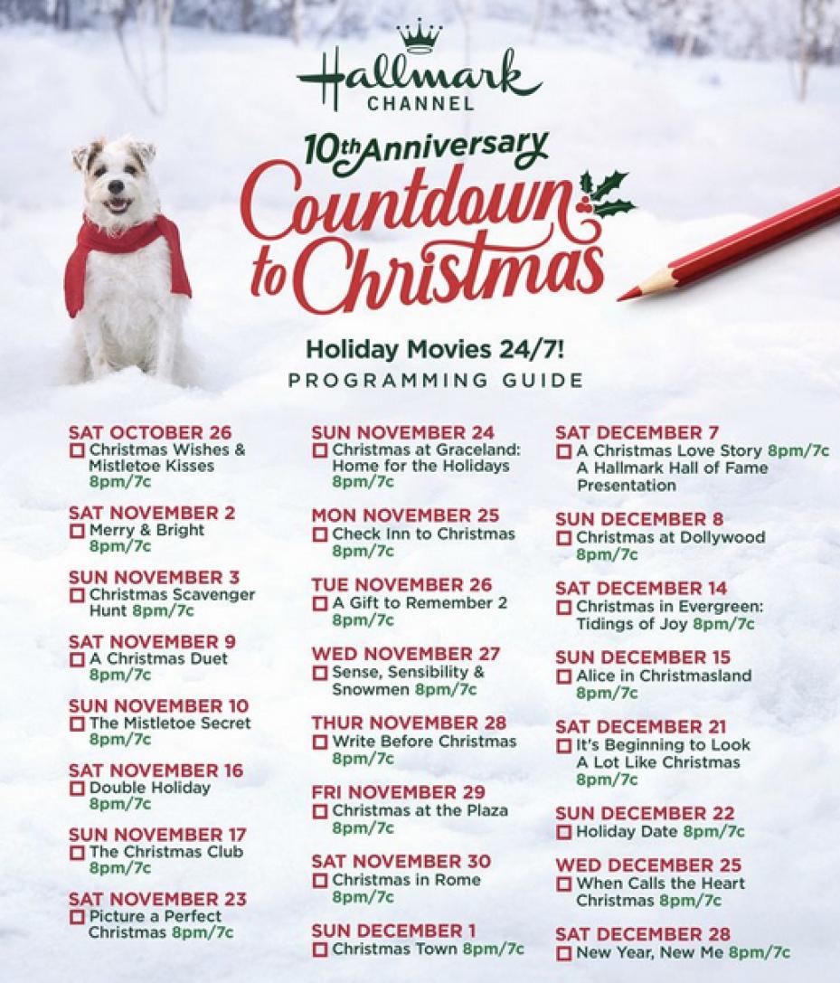 Hallmark Channel Just Released 2019 Christmas Movie Schedule