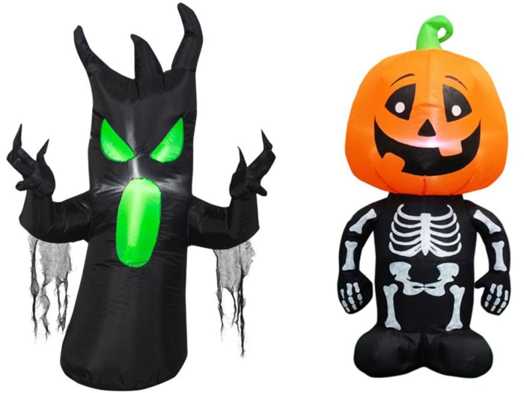 3.5 ft. Pre-lit Inflatable Scary Tree & Pumpkin Boy Combo Set