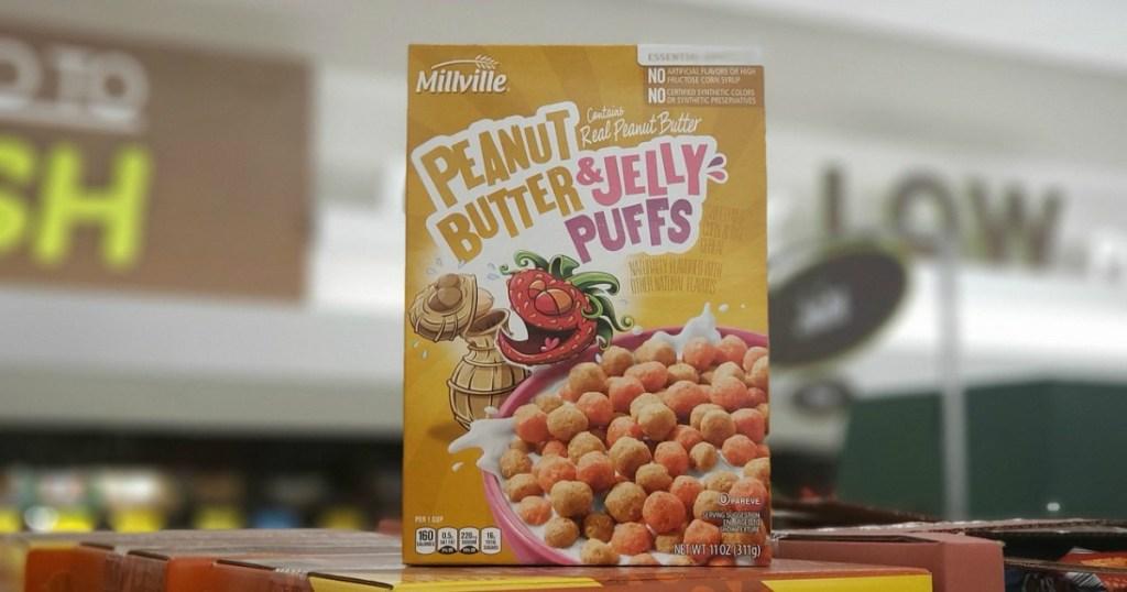 ALDI Peanut Butter Jelly Cereal