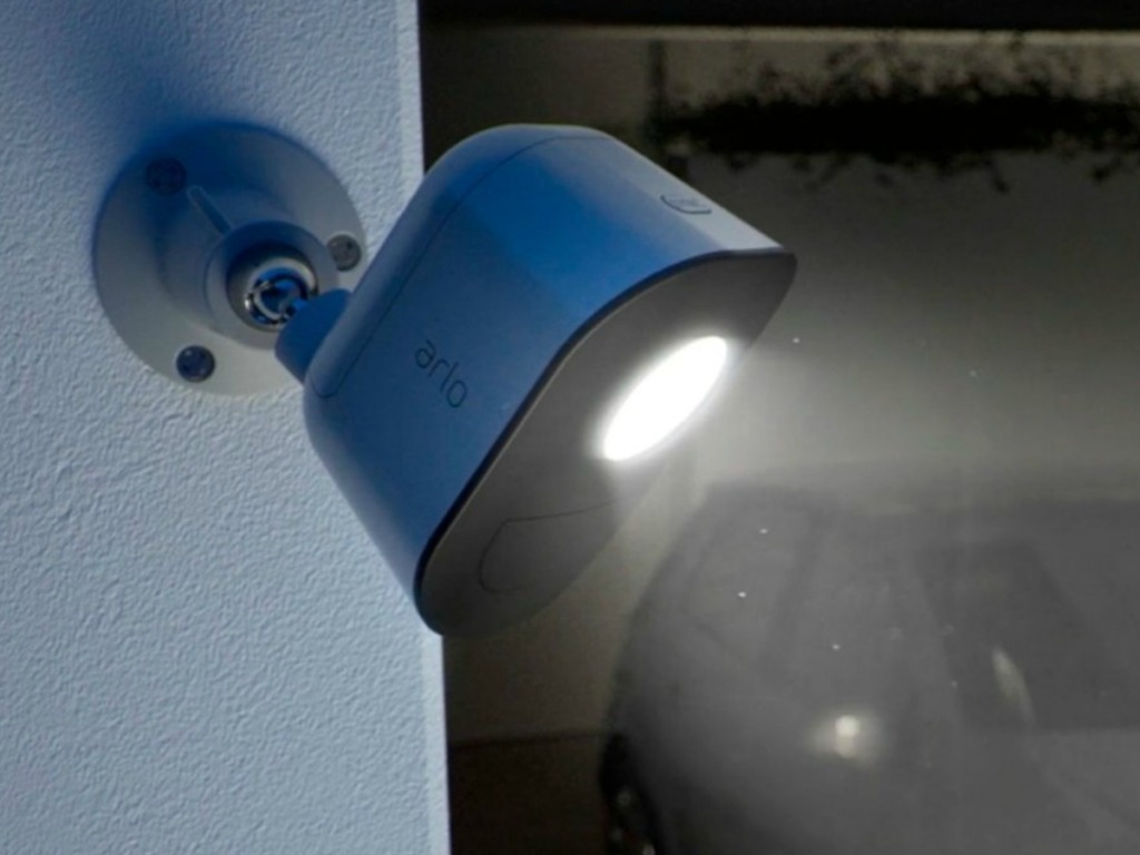 Arlo security system motion activated light