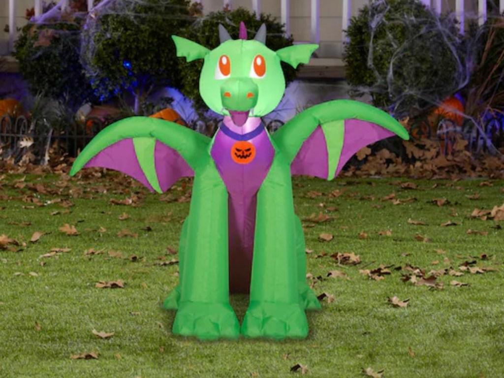 Dragon themed inflatable Halloween decor