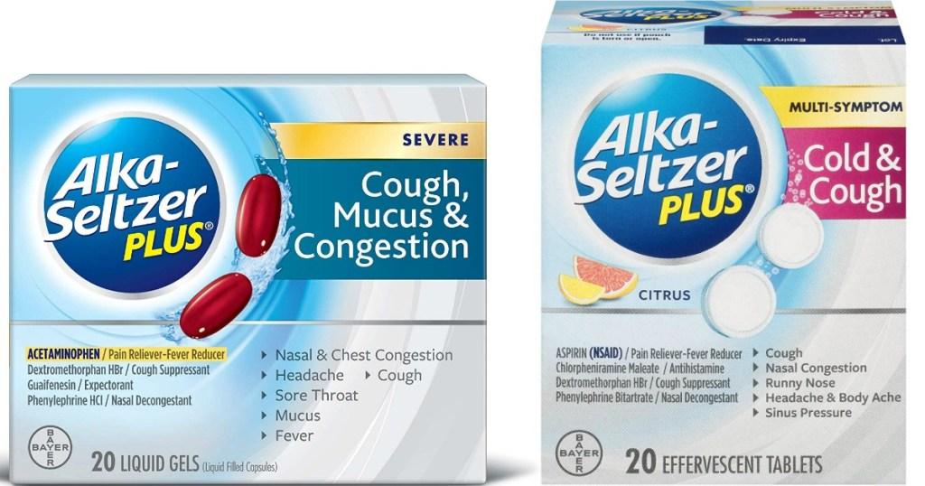 Alka-Seltzer Plus products