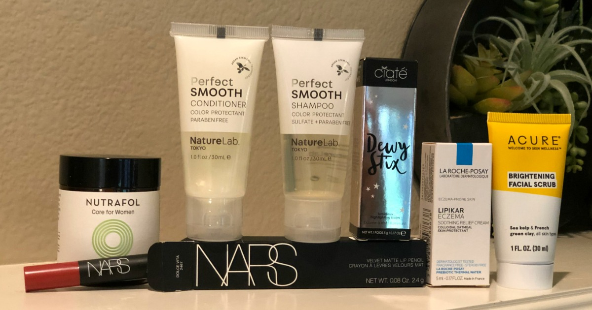 Allure September Beauty Box products from Nars, Acure and more