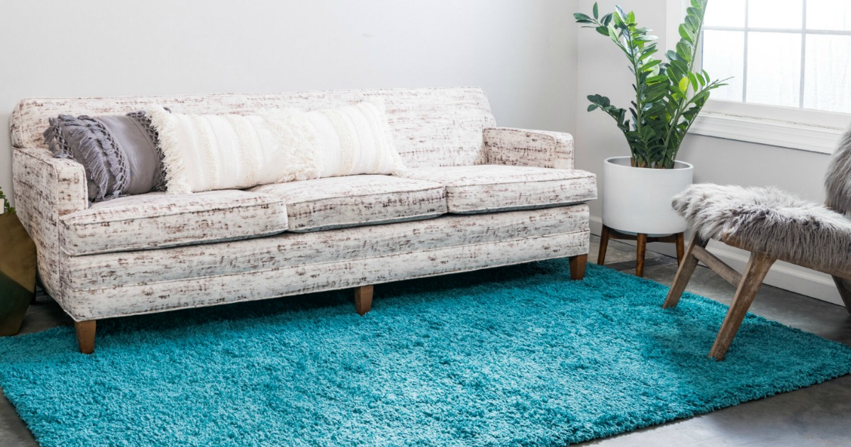 Andover Mills Lilah Area Rug in living room