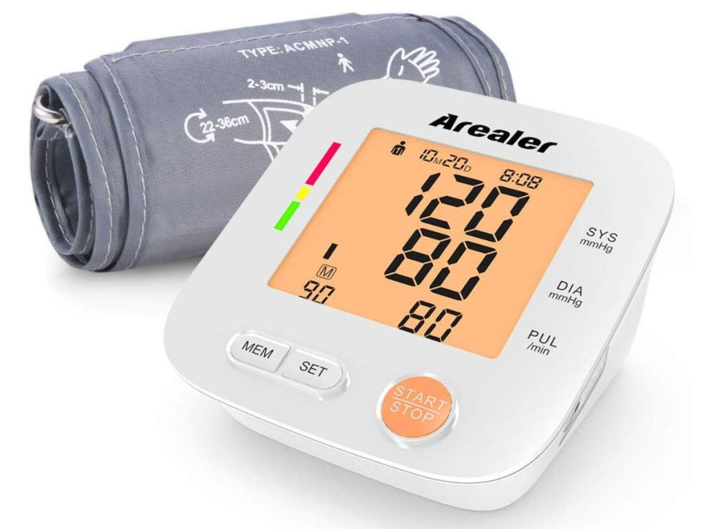 Arealer Upper Arm Automatic Blood Pressure Monitor