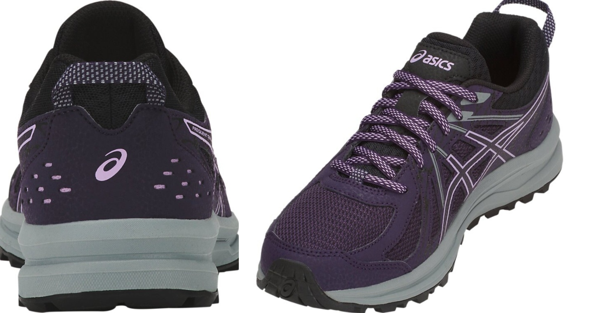 Asics Frequent trail, Womens shoes. Back view and inside view