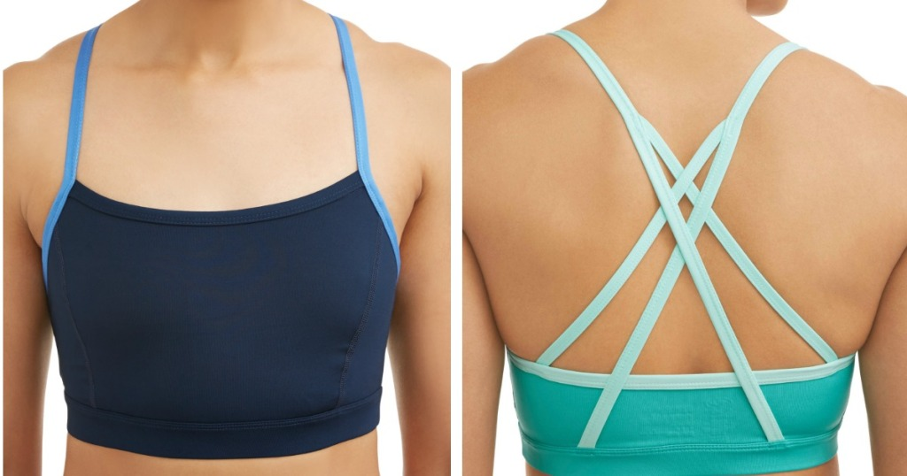 women wearing Athletic Works Strappy Back Bra