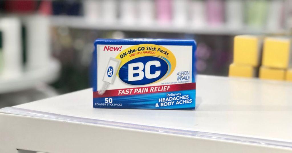 BC Powder box on counter