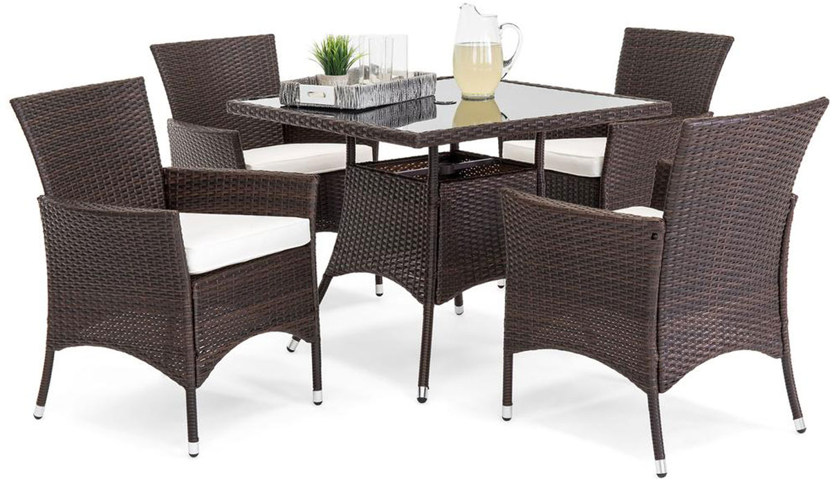 best choice products five piece wicker patio set