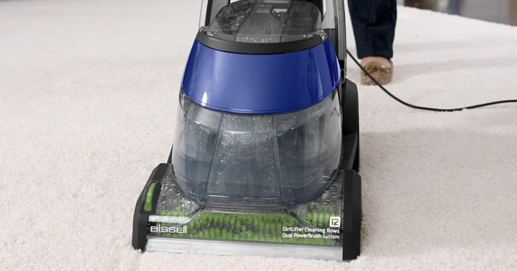bissel deepclean carpet cleaner on carpet