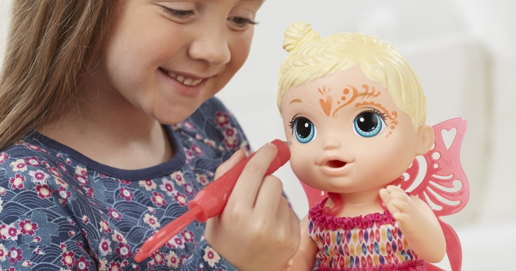 Baby Alive Face Paint Doll with little girl