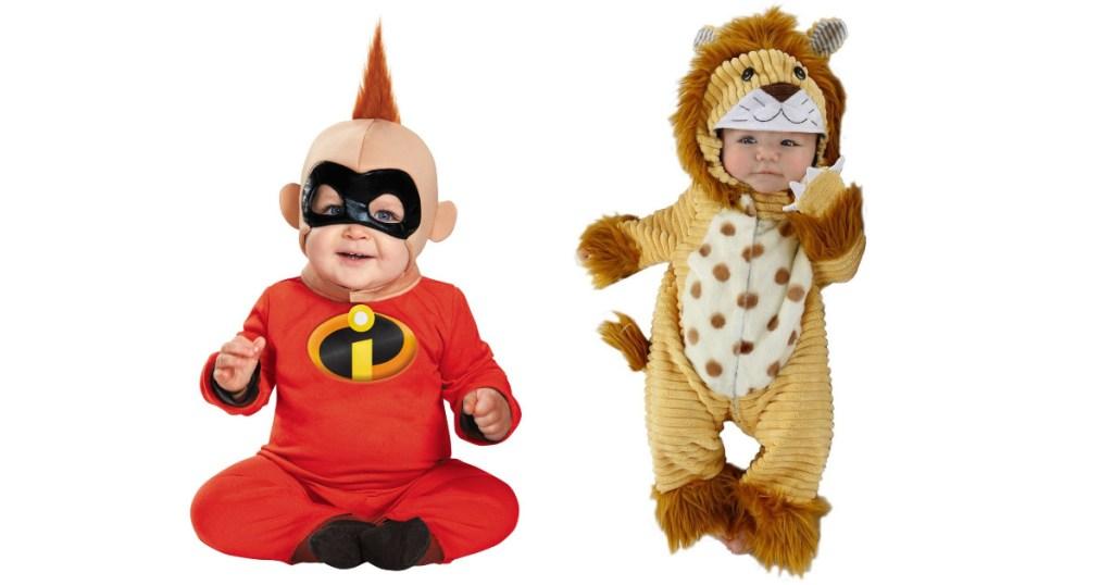 2 kids wearing target baby costumes