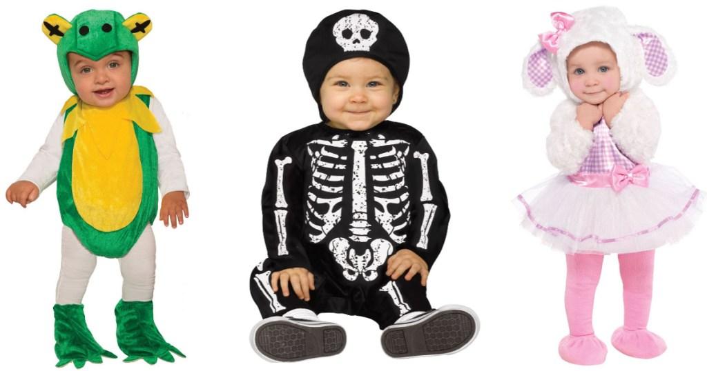 3 kids wearing target baby costumes