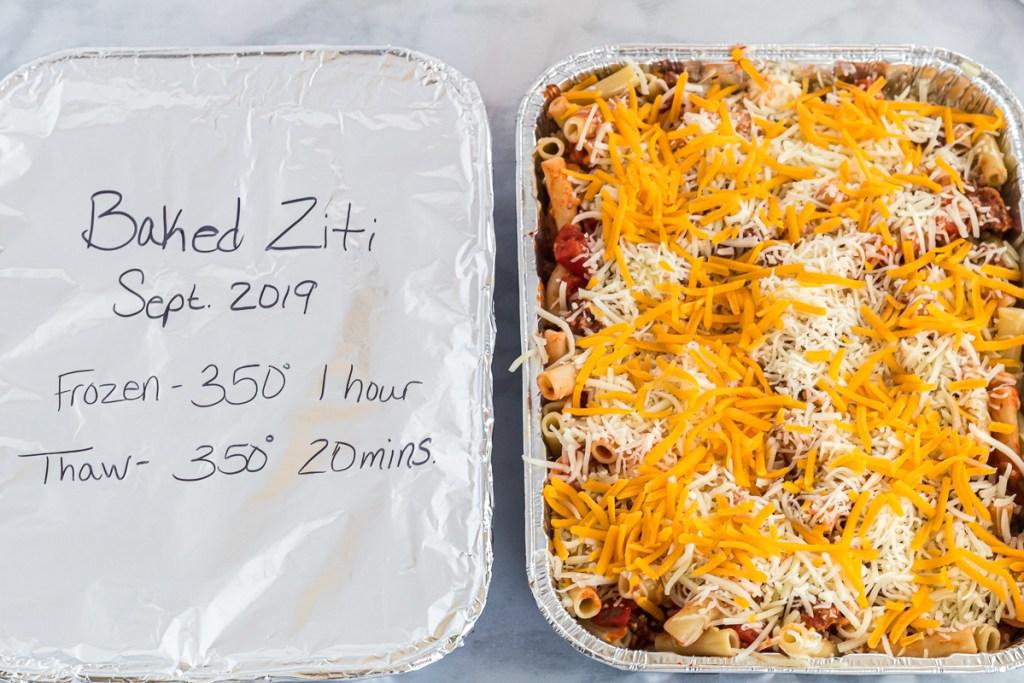 2 pans of baked ziti