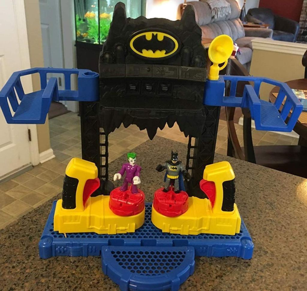 Batcave toy with batman and joker