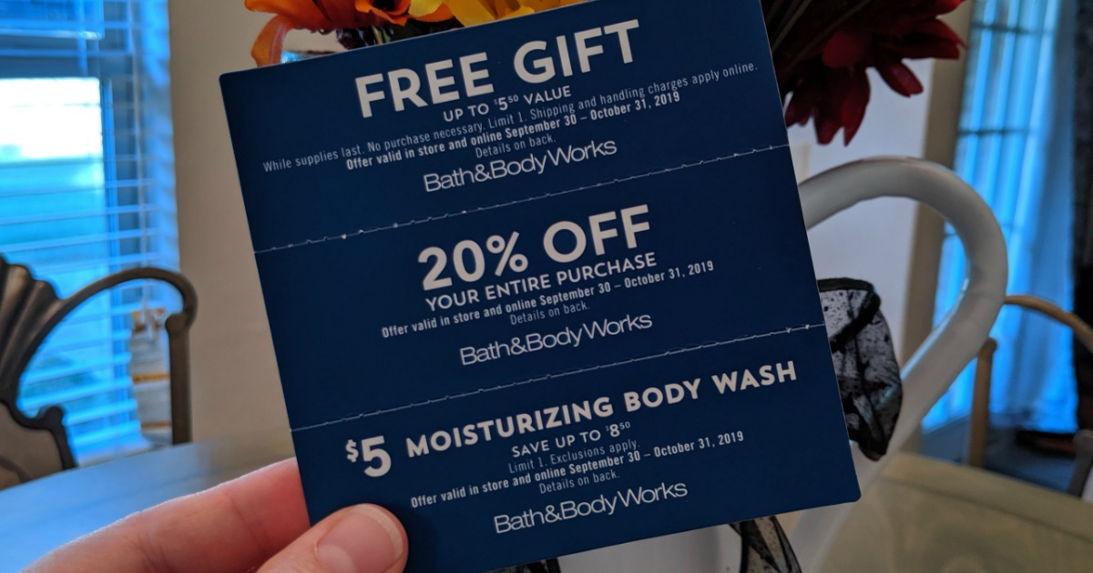 New Bath Body Works Coupon Booklet W Free Item Offers Check Your Mailbox Hip2save