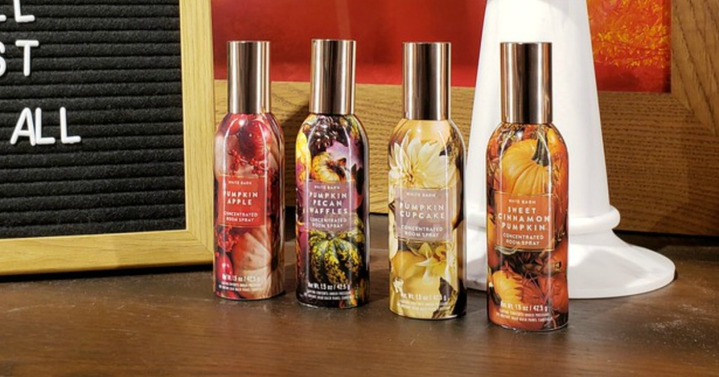 four Bath & Body Works room sprays