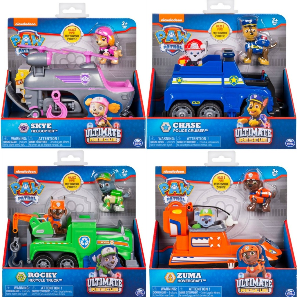 Paw Patrol Playsets in four different styles