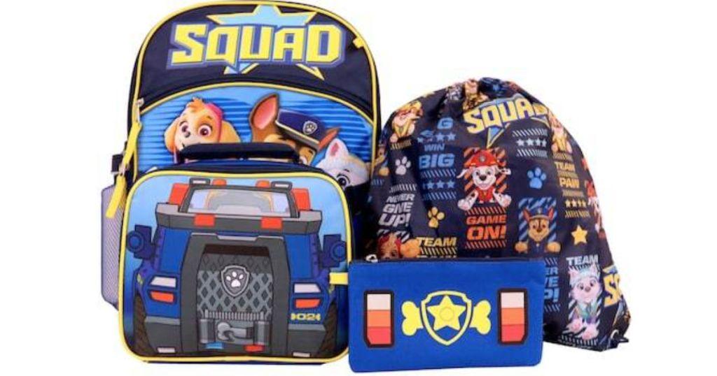 Kids Paw Patrol Backpack Set