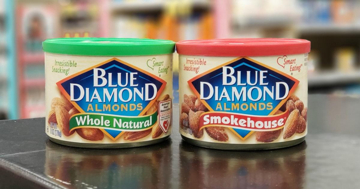 Blue Diamond Almonds 6 oz cans