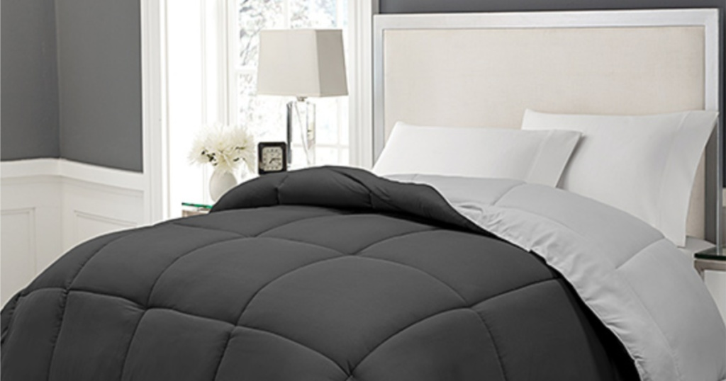 Blue Ridge Black & Grey Lightweight Down-Alternative Comforter